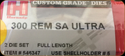 Hornady - Full Length Dies - 300 Rem SA Ultra - 546347