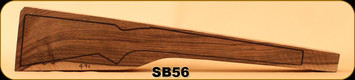 Stock Blank - Rifle Stock - Grade 5+ New Zealand Walnut - 491 - SB56