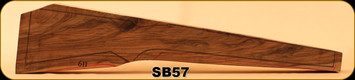 Stock Blank - Rifle Stock - Grade 4+ New Zealand Walnut - 611 - SB57