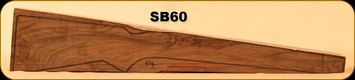Stock Blank - Rifle Stock - Grade 5 New Zealand Walnut - 614 - 1270-24 - SB60