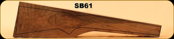 Stock Blank - Rifle Stock - Grade 4+ New Zealand Walnut - SB61