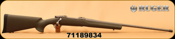 """Consign - Ruger - 300WM - M77 Hawkeye Magnum Hunter - Bolt Action Rifle -  Green Hogue Overmold Stock/Matte Stainless, 24"""" Barrel, only 20 rounds, c/w muzzle brake - In original box"""