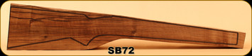 Stock Blank - Rifle Stock - Grade 2+ New Zealand Walnut - SB72