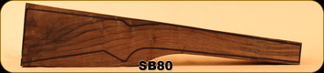 Stock Blank - Rifle Stock - Grade 4 New Zealand Walnut - PR6 - 35 - SB80