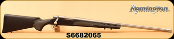 """Used - Remington - 204Ruger - Model 700 Varmint SF - Bolt Action Rifle - Black Synthetic Stock Overmolded Grip Panels/Polished Stainless, Fluted Barrel, 26"""" Barrel, 5 Rounds, Mfg# 84341 - New In Box"""