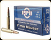 PPU - 7mm Mauser - 139 Gr - SP - 20ct - PP7