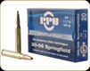 PPU - 30-06 Sprg - 180 Gr - SP - 20ct - PP30063