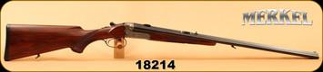 "Consign - Merkel - 9.3x74R / 20Ga/3""/26"" - SXS Boxlock Cape Gun - Walnut/Blued, Double Trigger, c/w Suhler claw mounts, adjustable Keller & Simmann barrel insert 9,3x74R, Schmidt & Bender 4-12x42, German #4 Reticle"