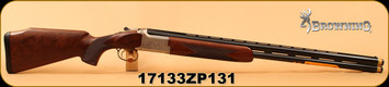 "Browning - 12Ga/3""/28"" - Citori B525 Liberty Light -  Walnut/Nickel Finish Engraved Receiver/Blued, Vent Rib, Extended Diana Chokes (4), IM IC, M, F, Mfg# 018173304, S/N 17133ZP131"