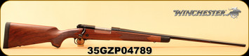 "Winchester - 338WinMag - Model 70 Super Grade - Bolt Action Rifle - Grade IV/V walnut, ebony forearm tip/Polished Blued, 26"" Barrel, jeweled bolt body, 5 Rounds, Adjustable Trigger, Mfg# 535203236, S/N 35GZP04789"