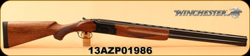 "Winchester - 12Ga/3""/28"" - Model 101 Deluxe Field - Over/Under Shotgun - Walnut Stock/Gloss Blued Finish, Vent Rib Barrel, 2 Rounds, Mfg# 513076392, S/N 13AZP01986"