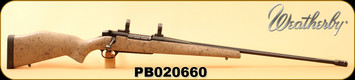 """Consign - Weatherby - 300WbyMag - Mark V Ultra Lightweight - Tan w/Black Spiderweb/Fluted, blackened stainless steel, 26"""", Glass Bedded, Less than 100 rounds"""