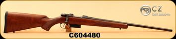 "CZ - 22Hornet - 527 American - Turkish Walnut, American-Style Stock/Blued, 21.9""Barrel, Single Set Trigger, 5rd magazine, Integrated 16mm Scope Bases, S/N C604480"