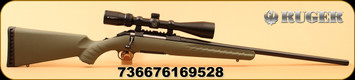 """Ruger - 204Ruger - American Predator Vortex Optics Package - Bolt Action Rifle - Synthetic Moss Green Stock/Matte Black 22"""" Barrel, Threaded 1/2x28, 5 Rounds, Factory Installed Vortex Crossfire II 4-12x44 Riflescope w/Dead-Hold BDC Reticle, Mfg# 1695"""