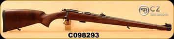 "CZ - 22LR - 455 FS - Turkish Walnut Full Mannlicher Stock/Blued, 20.5"", 5rd, Mfg# 02105, S/N C098293"
