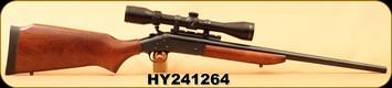 "Used - H&R - 22-250Rem - 1871 Handi Rifle Single Shot - American hardwood Monte Carlo pistol grip stock/Blued, 22""Barrel, c/w Bushnell Legend Ultra HD Multi-X Reticle Riflescope 3-9x40-mm"
