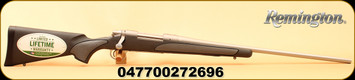 """Remington - 30-06Sprg - Model 700 SPS Stainless - Bolt Action Rifle - Black Synthetic Stock/Stainless Steel Finish, 24"""" Barrel, 4 Rounds, Mfg#27269"""