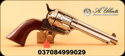 "Uberti - 45LC - 1873 Cattleman Polished Nickel NM - Walnut Grips/Full Nickel-Plated Steel, 5.5"" Barrel, Mfg# 344112"