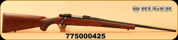 "Ruger - 243Win - M77 Hawkeye 50th Anniversary Edition - High-Grade American Walnut/Blued, 22""Barrel, Custom 50th Anniversary ""M77 50 Years"" bolt handle/floorplate engravings, Mfg# 47190, S/N 775000425"