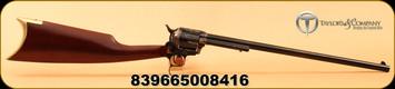 "Taylors & Co - 357Mag - Uberti - Cattleman Quick-Draw Revolving Carbine - Walnut/Blued Finish with Case Hardened Frame, 18""Barrel, Mfg# 409"