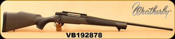 "Consign - Weatherby - 240WbyMag - Vanguard Synthetic - Grey w/Black Griptonite Stock/Bead Blasted Matte Finish, 24"" #2 Contour Barrel, Higned Floorplate, Rifle Basix Rail & Trigger - Only 40 Rounds"