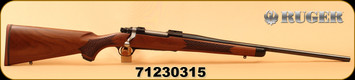 "Ruger - 358Win - M77 Hawkeye 2016 Special Edition - one of 150 - Claro Walnut w/Basket-Weave Checkering & Ebony Forend Tip/Blued, 22""Barrel, Mfg# 47167, S/N: 71230315"