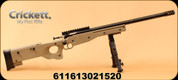"""Crickett - 22LR - CPR Package - Single Shot Bolt Action - FDE Adjustable Synthetic Thumbhole Stock/Blued, 16.125"""" Threaded Barrel with Bipod and Scope, MFG# KSA2152"""