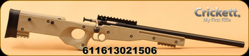 "Crickett - 22LR - Precision Rifle - Single Shot Bolt Action - FDE Adjustable Synthetic Thumbhole Stock/Blued 16.125"" Threaded Barrel, Mfg# KSA2150"