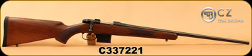 "CZ - 6.5Grendel - 527 American - Bolt Action Rifle - Turkish Walnut Stock/Blued, 24"", 5rd detachable magazine, Integrated 16mm Scope Base, Mfg# 03088, S/N C337221"