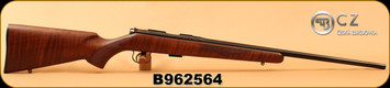 "CZ - 22LR - 452-2E American LH - Bolt Action Rifle - American Style Turkish Walnut/Blued, 22.52"" Barrel, 5 Rounds, Mfg# 02017, S/N B962564"