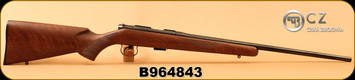 "CZ - 22LR - 452-2E American LH - Bolt Action Rifle - American Style Turkish Walnut/Blued, 22.52"" Barrel, 5 Rounds, Mfg# 02017, S/N B964843"