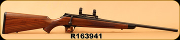 "Consign - Blaser - 6.5Creedmoor - Model R8 Classic Sporter - Grade 5 Walnut/Matte Black Receiver & Barrel, 22""Barrel, c/w 30mm Low Blaser Rings - Unfired"