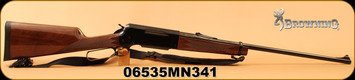 "Used - Browning - 300WinMag - BLR Lightweight '81 - Lever Action - Straight grip, Gloss Black Walnut Stock/Polished Blued, 24""Barrel, c/w spare magazine, Synthetic Sling"