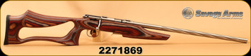 "Used - Savage - 22WMR - Model 93R17 BSEV - Bolt Action - Laminate Evolution Stock/Stainless Steel, 21""Spiral Fluted Heavy Varmint Barrel, AccuTrigger"