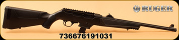"""Ruger - 9mm - PC Carbine - Non-Restricted Semi-Auto Rifle - Black Synthetic/Type III Hardcoat Anodized, 18.6""""Fluted Barrel, 10 Rounds, Mfg# 19103"""
