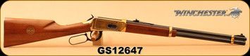 "Consign - Winchester - 30-30Win - Model 1894 Golden Spike Carbine - Lever Action - Walnut Stock/Gold Plated Reciever, Butt Plate & Barrel Band/Blued, 20"" Barrel, Saddle Ring, Made in 1969 - No Box"