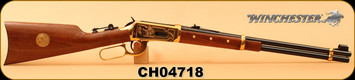 "Consign - Winchester - 44-40Win - Model 1894 Cheyenne Edition - Lever Action - Walnut/Brass Receiver/Blued, 20""Barrel, c/w original painting - In protective styrofoam - No outer box"