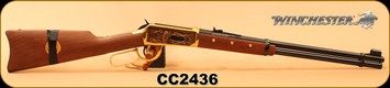 "Consign - Winchester - 30-30Win - Model 1894 Comanche Carbine - Walnut/Brass Receiver & Trigger Guard/Blued, 20""Barrel, made in 1975, c/w Leather Ammo Carrier, S/N CC2436 - Medallion is loose - In original box"