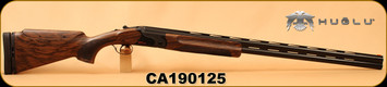 "Huglu - 12Ga/2.75""/32"" - Model HT-14 - Grade 3 Select Turkish Walnut Adjustable Stock/Black Receiver/Blued Barrels, Ejectors, Vent Rib, Adjustable Trigger, SKU# 8681715396583, S/N CA190125"