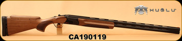 "Huglu - 12Ga/2.75""/32"" - Model HT-14 - Grade 2 Select Turkish Walnut Adjustable Stock/Black Receiver/Blued Barrels, Ejectors, Vent Rib, Adjustable Trigger, SKU# 8681715396583, S/N CA190119"
