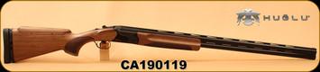 "Huglu - 12Ga/2.75""/32"" - Model HT-14 - Grade 2 Select Turkish Walnut Adjustable Stock/Black Receiver/Blued Barrels, Ejectors, Vent Rib, Adjustable Trigger, SKU# 8681715396583, S/N CA190119"