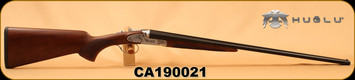 "Huglu - 410Ga/3""/26"" - Model 200AC - SxS - Turkish Walnut/ Hand Engraved Silver Receiver/Blued Barrels, SKU# 8682109400190, S/N CA190021"