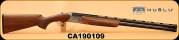 "Huglu - 12Ga/3""/28"" - Ventus SG9 - O/U - Ejectors - Select Turkish Walnut/Hand Engraved/Blued Barrels, 5pc Choke, SKU# 8681715396408, S/N CA190109"