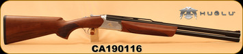 "Huglu - 12Ga/3""/24"" - Ventus Woodcock - Ejectors - Turkish Walnut/Silver Receiver/Blued Barrels, SKU# 8681715397146, S/N CA190116"