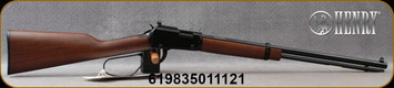 """Henry - 22WMR - Small Game - Large Loop Lever Action Rifle - American Walnut/Black Receiver/Blued, 20""""Octagon Barrel, Mfg# H001TMRP - STOCK PHOTO"""