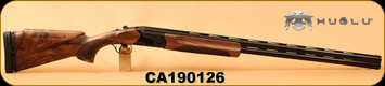 "Huglu - 12Ga/2.75""/32"" - Model HT-14 - Grade 3 Select Turkish Walnut Adjustable Stock/Black Receiver/Blued Barrels, Ejectors, Vent Rib, Adjustable Trigger, SKU#8681715396583 S/N CA190126"