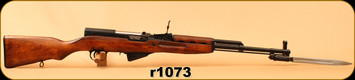 "Consign - Simonov - 7.62x39 - SKS - Wd/Blued, 20.3""Barrel, Bayonet"