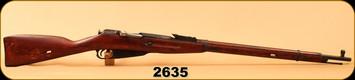 """Consign - Mosin Nagant - 7.62x54R - M91/30 - Wd/Blued, 29""""Barrel, Hex Receiver, c/w Bayonet"""