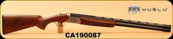"Huglu - 12Ga/3""/28"" - Ventus - Turkish Walnut/Bronze Receiver/Blued, Ejectors, Vent Rib, 5pc Ventus choke, SKU# 8681715390529, S/N CA190087"