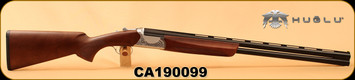 "Huglu - 12Ga/3""/28"" - Ventus GR1 - O/U - Turkish Walnut/Silver Hand Engraved Receiver/Blued Barrels, Ejectors, SKU# 8681715396309, S/N CA190099"